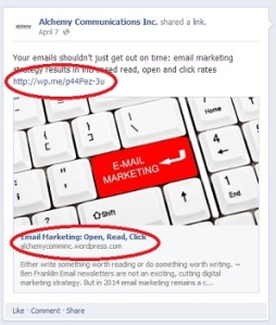 facebook marketing tips: link to your website
