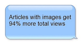 articles with images get 94% more views