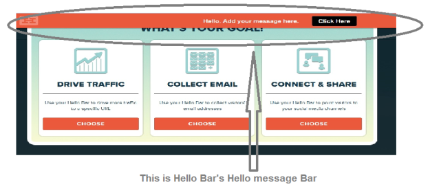 Hello Bar tool