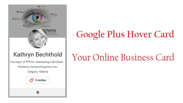 Google Plus HoverCard Your Online Business Card
